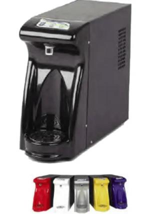 DepurDRY erogatore soprabanco per acqua naturale a temperatura ambiente, refrigerata, gassata refrigerata. Disponibile in 6 diversi colori.