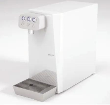 DepurTOP erogatore sopra banco a 2 o 3 selezioni per acqua naturale a temperatura ambiente, acqua naturale refrigerata.